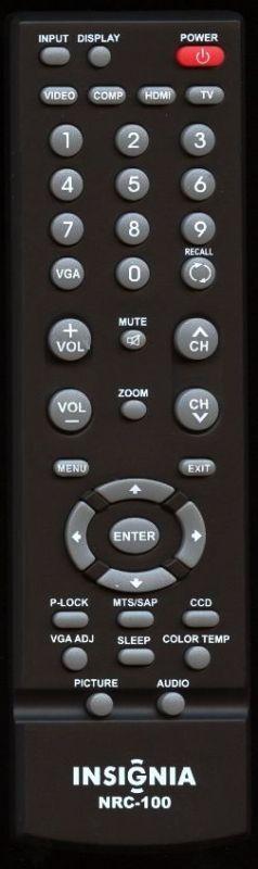 Insignia NRC-100 Remote Control