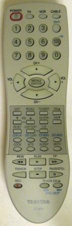 TOSHIBA CT-852 Remote Control - RemoteControls com | Remote