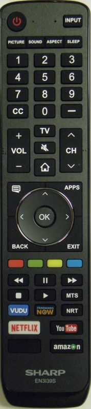 SHARP EN3139S Remote Control - RemoteControls com | Remote